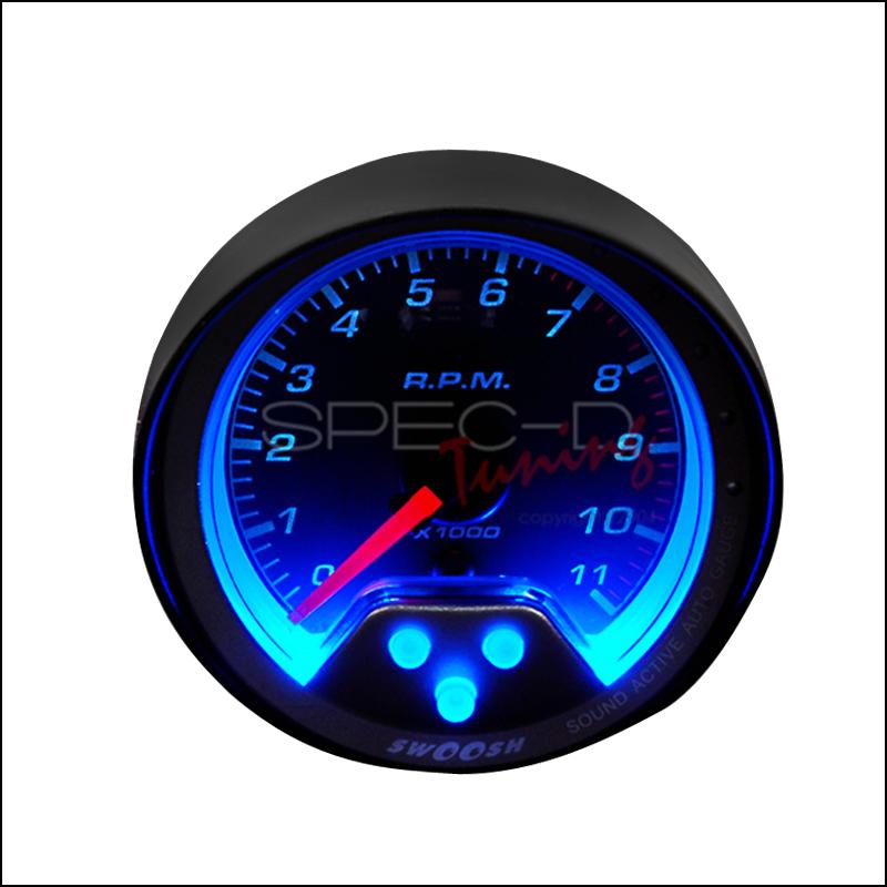 Spec-D Tuning® Tachometer Swoosh Gauge