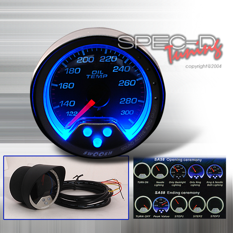 Spec-D Tuning® Oil Temperature Swoosh Gauge