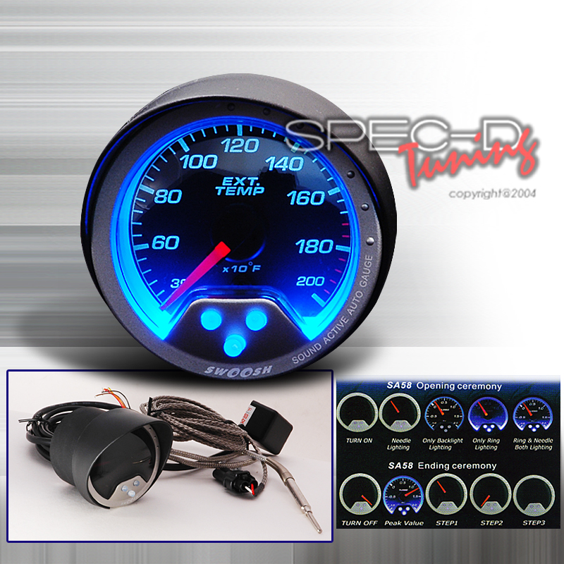 Spec-D Tuning® Exhaust Temperature Swoosh Gauge