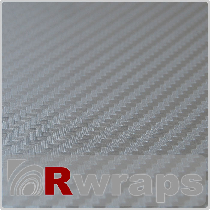 Carbon Fiber Vinyl Silver