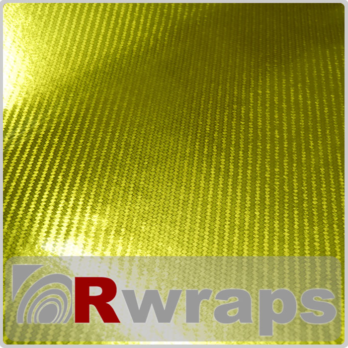 Carbon Fiber Vinyl R3 Yellow