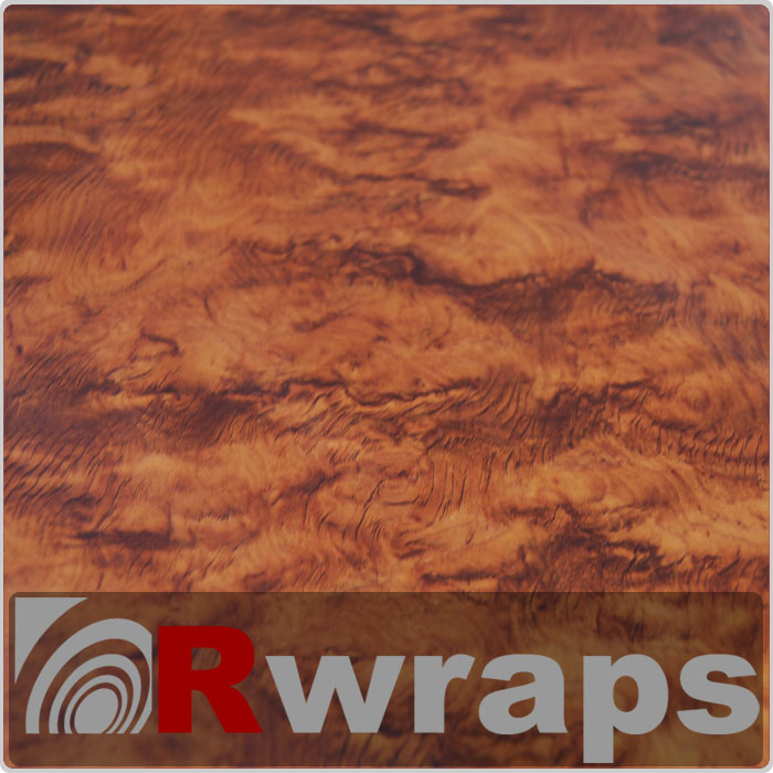 Wood Grain Vinyl Film - Burlwood Honey